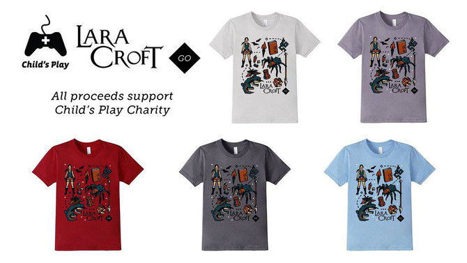 New Lara Croft GO t-shirts!