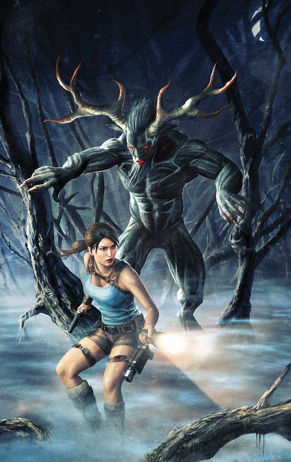 "New cover for the comic ""Lara Croft and the Frozen Omen #4"""