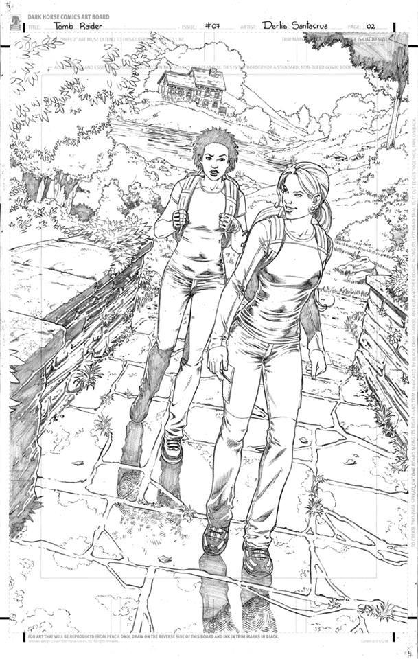 Derlis Santacruz shows us his work on the new Tomb Raider comic #07