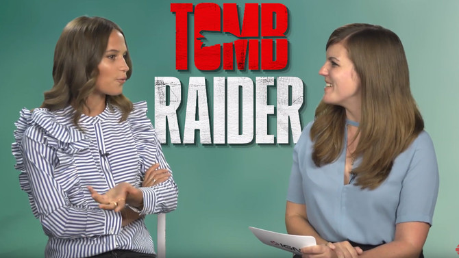 Interview with Alicia Vikander talking about the new Tomb Raider Trailer