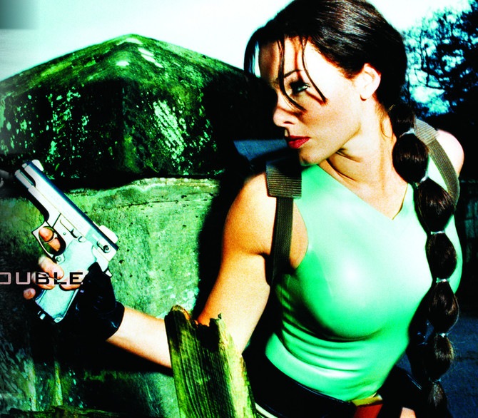 New photos of Nell McAndrew as Lara Croft