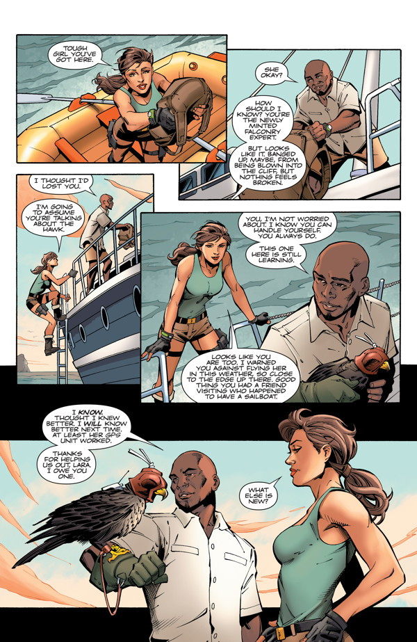 "Preview pages ""Lara Croft and the Frozen Omen #1"""