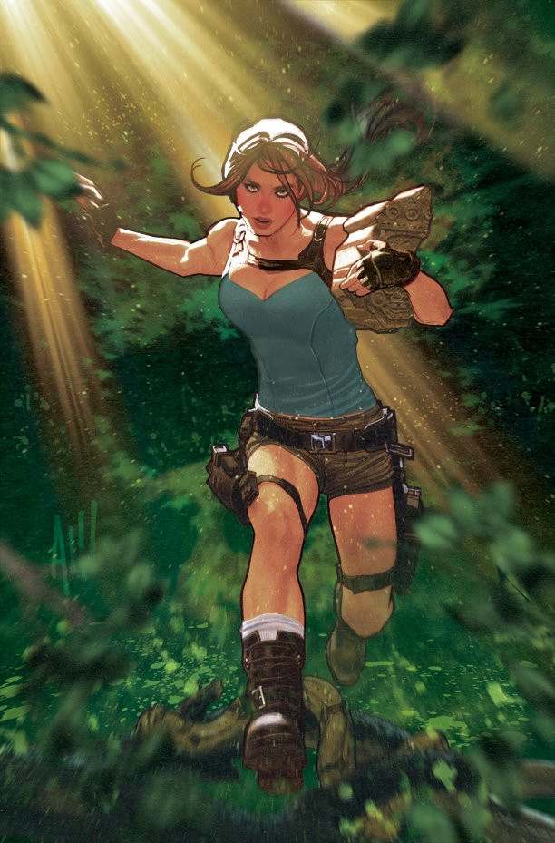 Is Adam Hughes working for the new comics based on Lara Croft?
