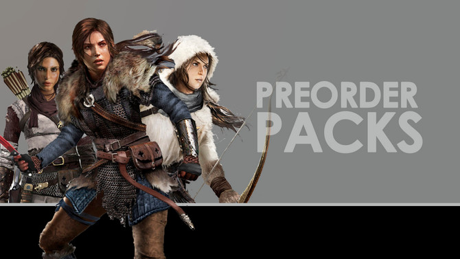 Rise of the Tomb Raider Preorder Packs