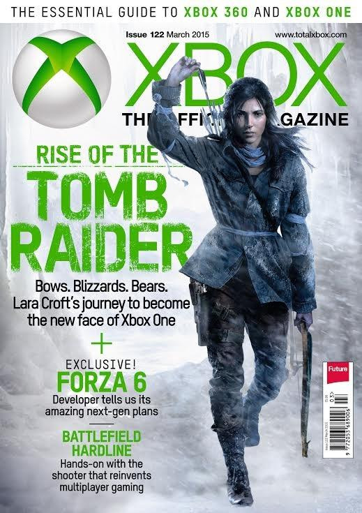 Rise of the Tomb Raider in the cover of Xbox Official Magazine. New Render!
