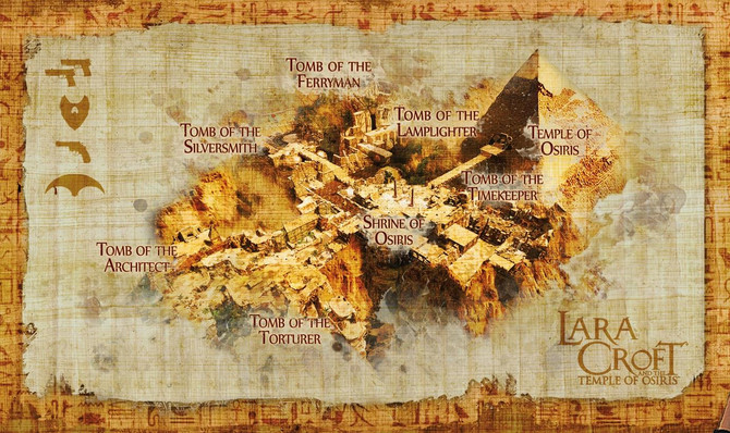 Has been revealed the map of Lara Croft and the Temple of Osiris