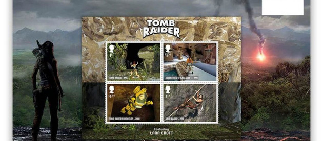 New Tomb Raider stamps created by Royal Mail (UK)