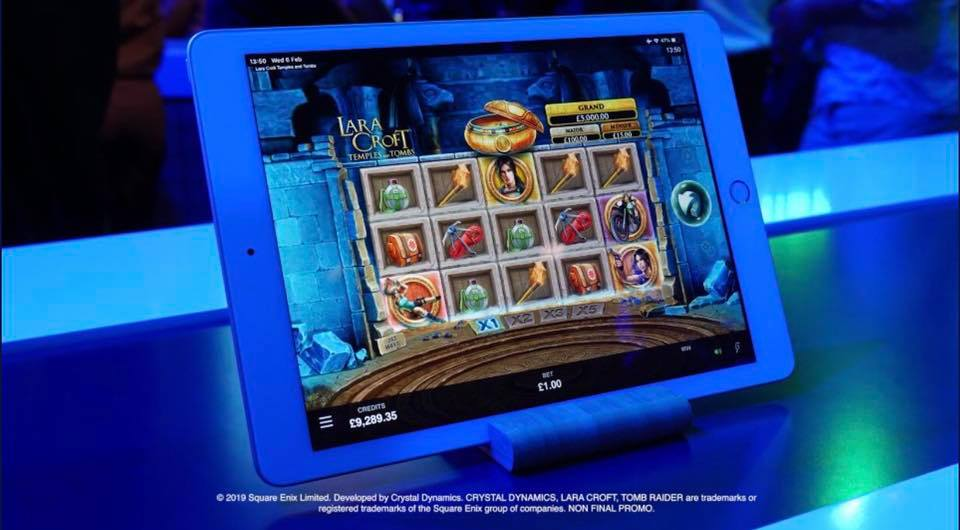 Lara Croft Temples and Tombs, a new slot game