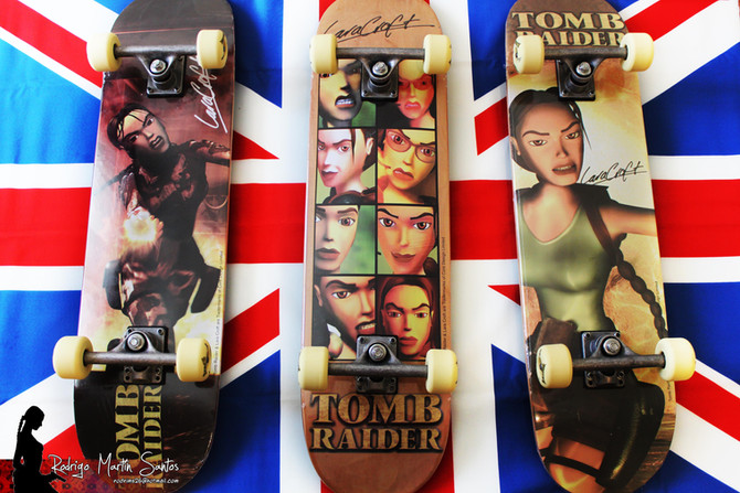 Three new skateboards have arrived to my Tomb Raider Collection.