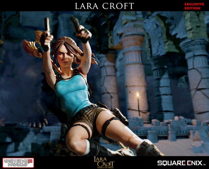 New statue of Lara Croft and the Temple of Osiris by Gaming Heads has been announced