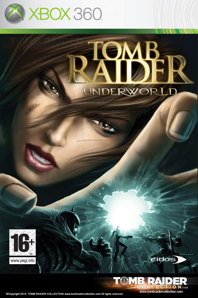 Unseen and unused cover of Tomb Raider Underworld