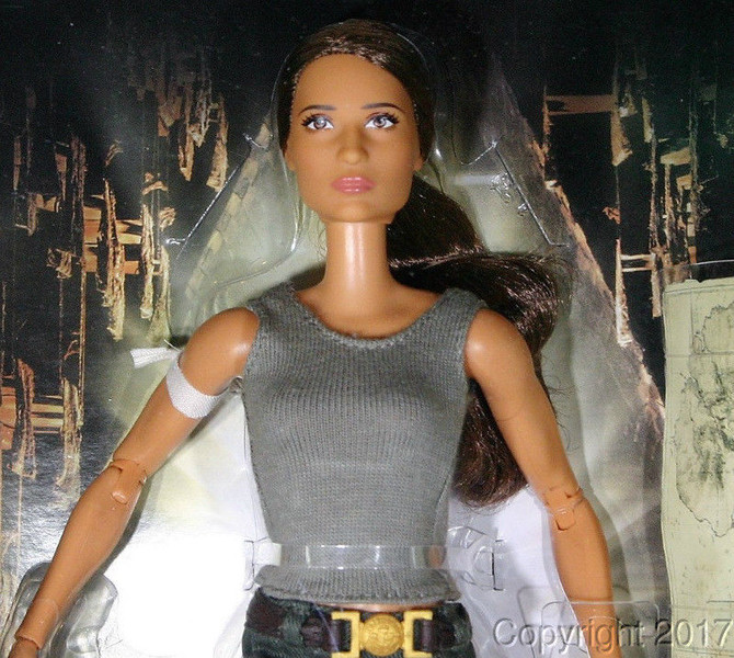 First photos of the new Barbie based on the new Tomb Raider movie.