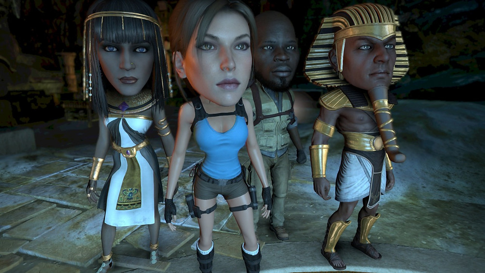 lara croft and the temple of osiris big head