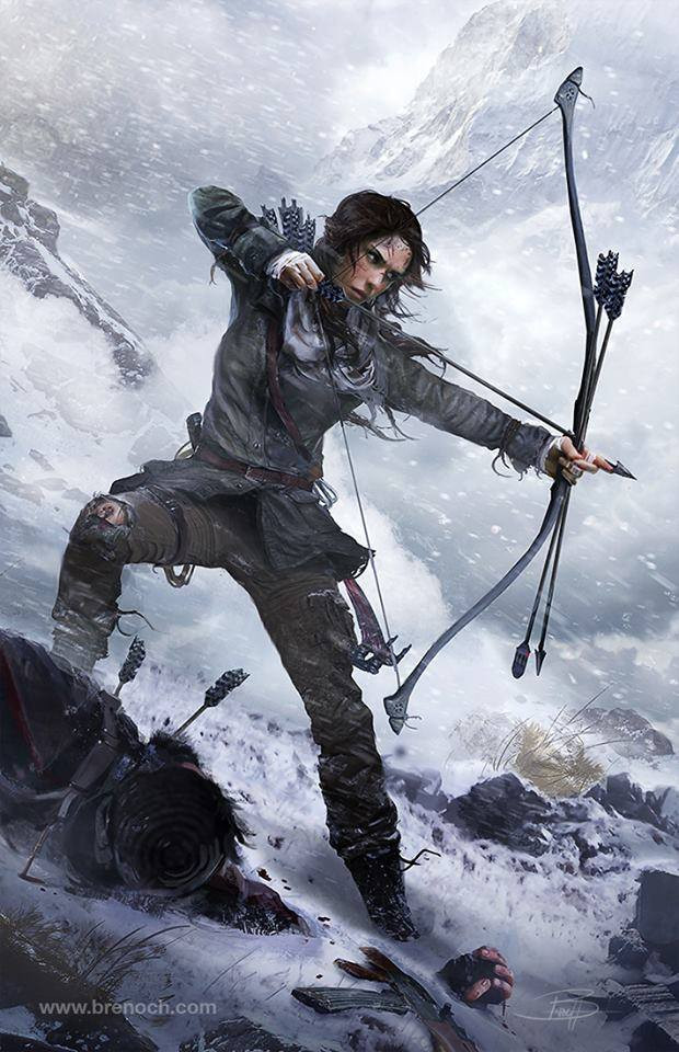 New artwork of Rise of the Tomb Raider