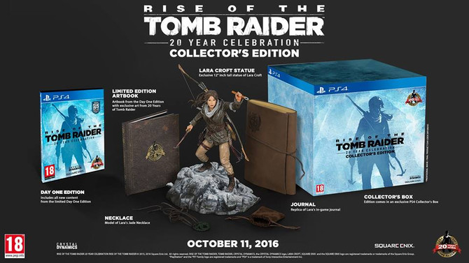 "Announced collector's edition ""Rise of the Tomb Raider 20 Year Celebration"""