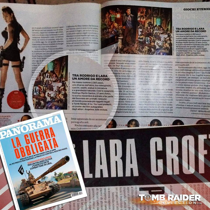 """Tomb Raider Collection is in the Italian Magazine """"Panorama"""""""