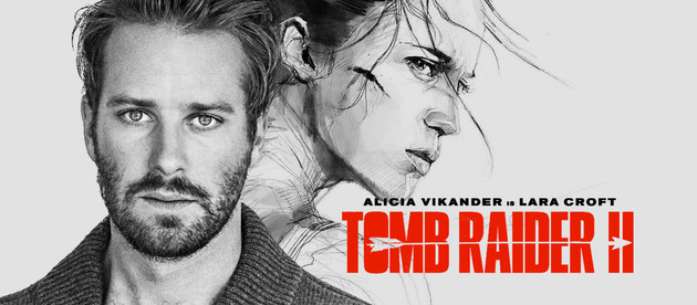 Is the actor Armie Hammer involved in the next Tomb Raider movie?