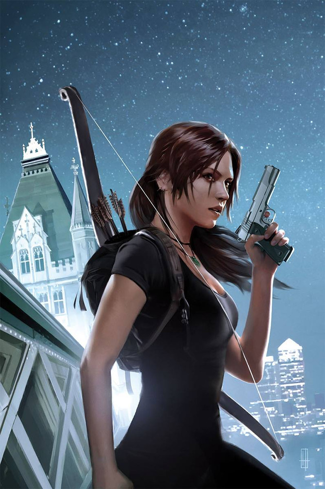 New cover for the comic book No.12 of Tomb Raider. By Brian Horton.
