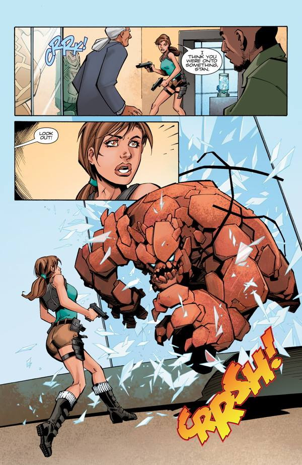 "Preview pages for ""Lara Croft and the Frozen Omen #3"""