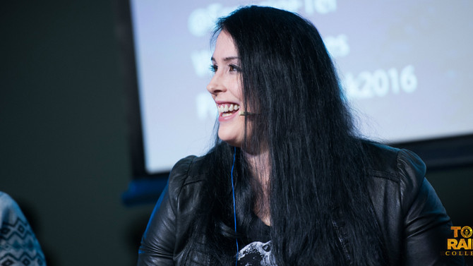 Rhianna Pratchett talks about her work in Tomb Raider at a conference in Madrid