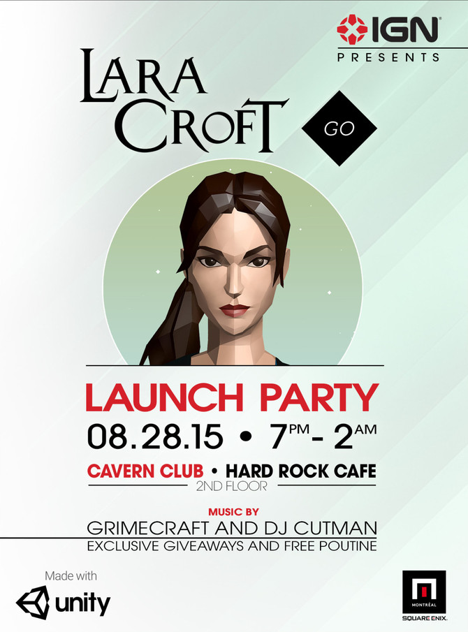 Launch Party of Lara Croft GO the next 28th of August in Seattle (USA)