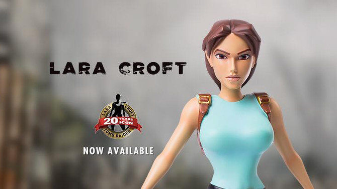 Revealed the first statue of the 20th Anniversary of Tomb Raider.
