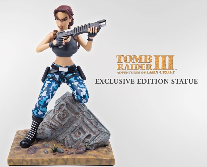 New photos and video of the new statue by Gaming Heads based on Tomb Raider III