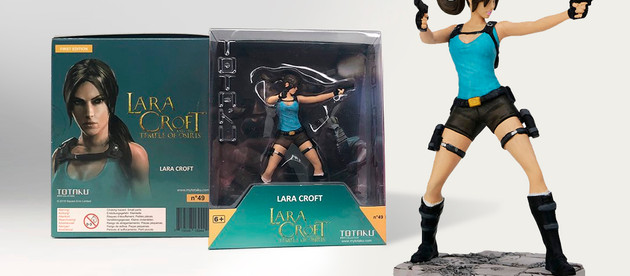 Photos of the final packaging of the new Totaku figure of Lara Croft
