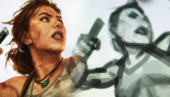 Andy Park is working in a new cover for Tomb Raider Comics