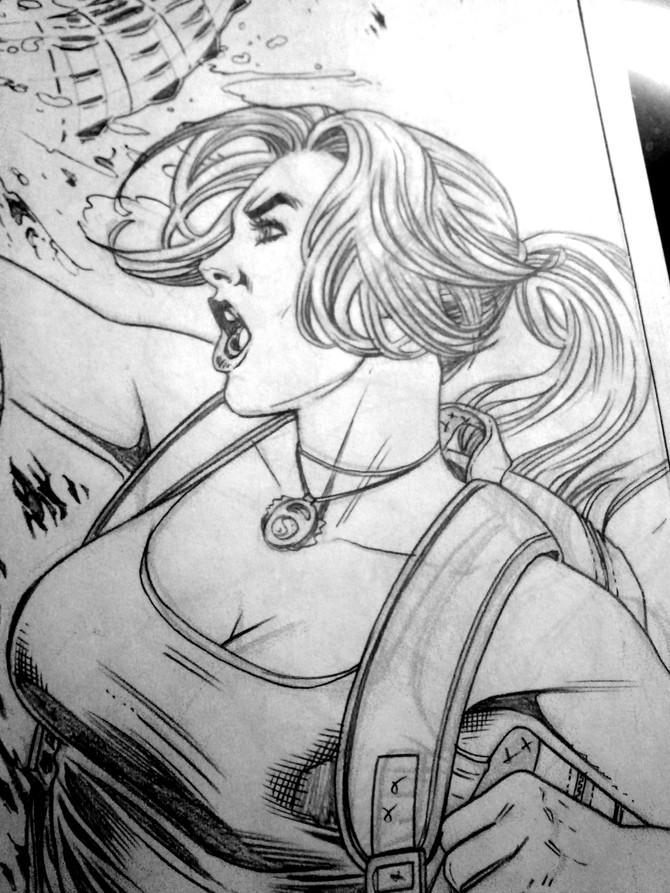 New layouts by Derlis Santacruz for the next Tomb Raider Comic