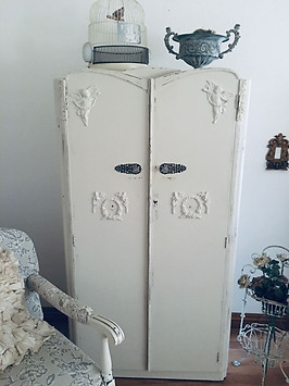 antique shabby chic mens armoire with ap