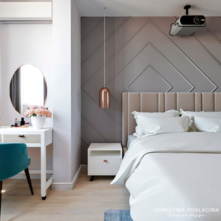 Спальня и зона туалетного столика