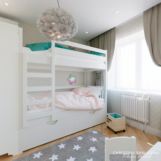 Детская комната для двух малышей