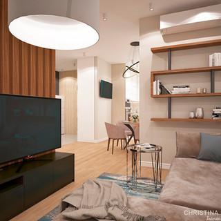 Гостиная зона в современном стиле