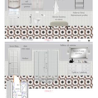 Интерьер ванной комнаты в спальне