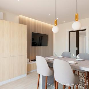 Интерьер гостиной-кухни в современном стиле