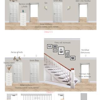 Интерьер коридора первого этажа