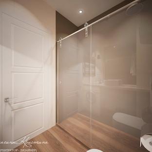Ванная комната с душевым ограждением