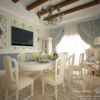 Интерьер столовой в стиле прованс