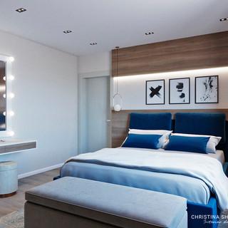 Спальня с гримерным зеркалом