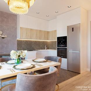 Вид на кухонную зону
