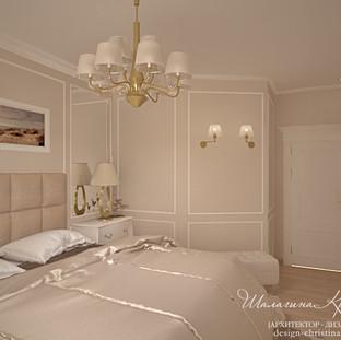Интерьер спальнив классическом стиле
