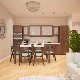 Столовая зона и кухня