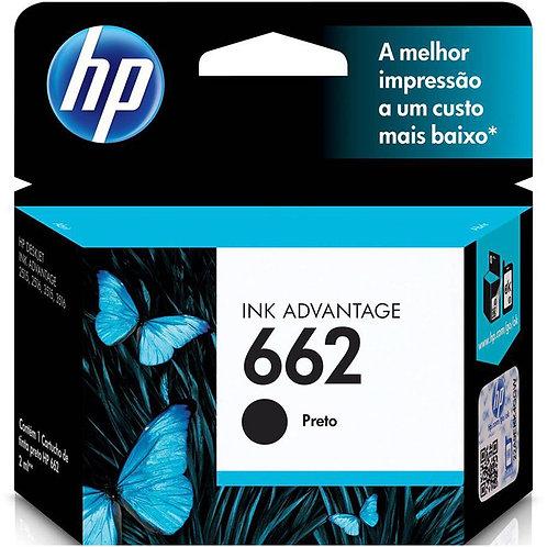 Cartucho HP 662 preto Original 2ML CZ103AB