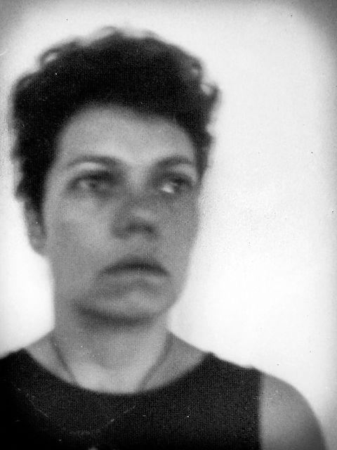 Long exposure black and white portrait of Faye Chamberlain