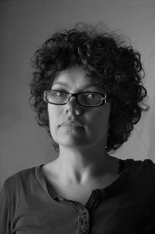 Black and white portrait of Faye Chamberlain