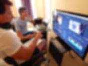 Greg and Val editing pic 3.JPG
