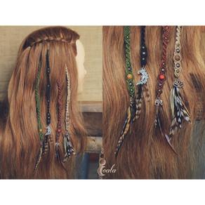 Bijoux cheveux clip macramé  Modèle 1 IN