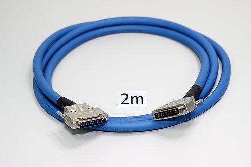 Cabo de áudio analógico 8 vias DB-25 M x DB-25 M de 2m
