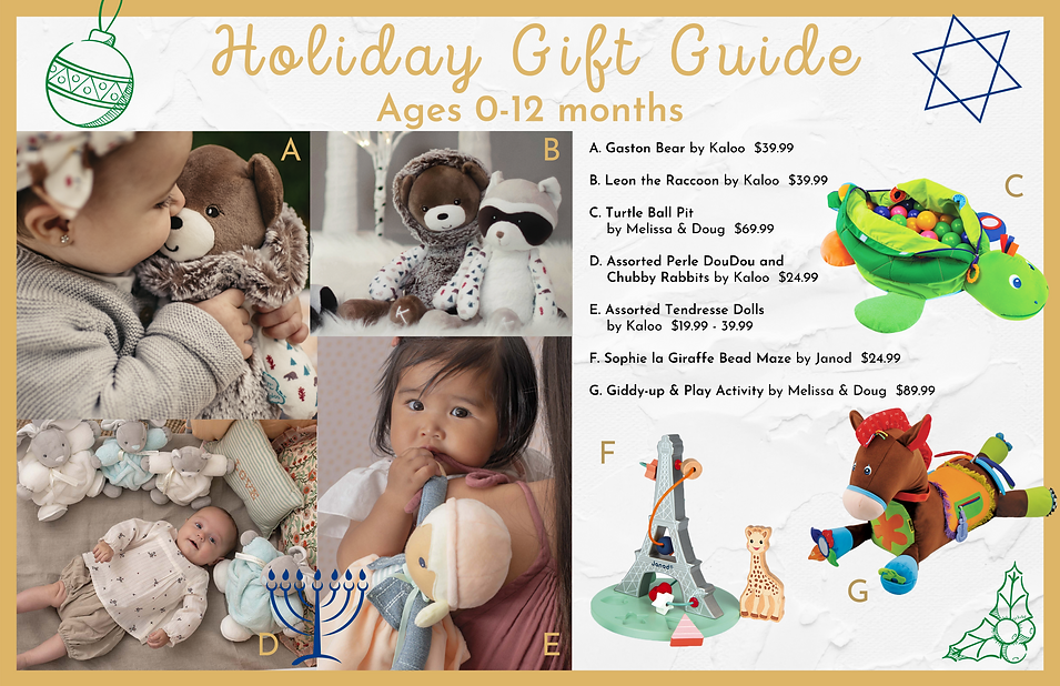 Gift guide Age 0-12months